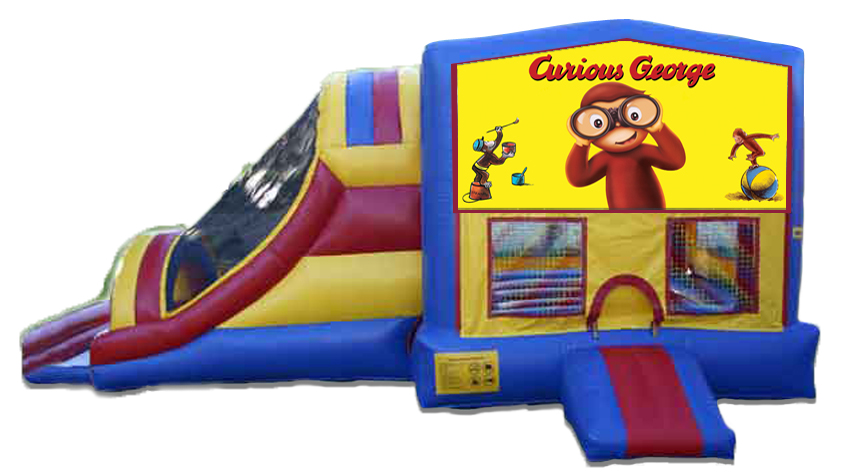Curious George 4 in 1 Jumbo Dual Lane Connect