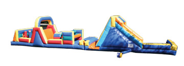 Combo 13: 61 Ft Obstacle Course 35 Ft Obstacle & Rock Climb Slide