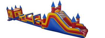 Combo 16: 81 Ft Obstacle Course Large Castle, 38Ft Obstacle & 20Ft Slide