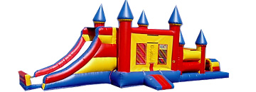 Combo 7: 47 Ft Castle Obastacle 3in1 Jumbo Castle Slide & 20Ft Obstacle