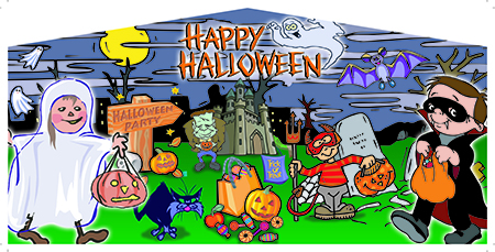 Halloween Panel 1 (Trick or Treaters)