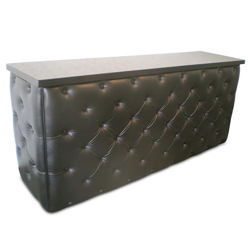 Bar: Black leather